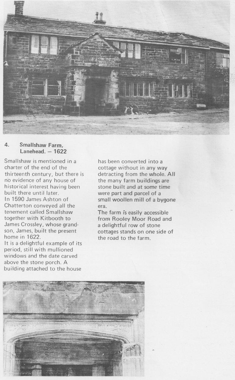 Smallshaw Farm at Lanehead in 1662
